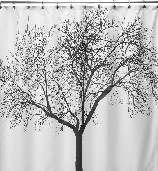 Venda quente Elegante Cenário Big Black Tree Design À Prova D 'Água Do Banheiro Tecido de Cortina de Chuveiro Tecido EVA Casa de Banho À Prova D' Água Frete Grátis