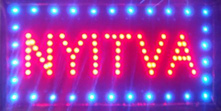 Ультра яркий светодиодный неоновый свет анимированные светодиодные неоновые вывески NYIVA неоновые огни полу открытый размер 48 см*25 см Бесплатная доставка
