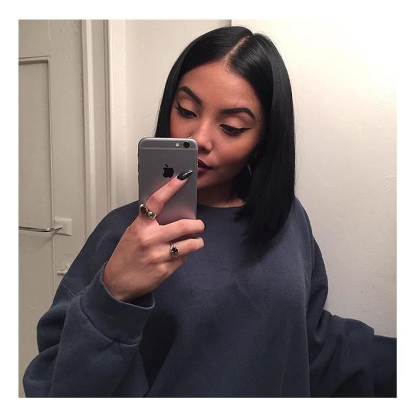 Menselijk Haar Kant Pruiken Voor Zwarte Vrouwen Virgin Onverwerkte Haar Weefs Volledige Kant Pruiken Middendeel Straight Hair Weave Natural Color Bellahahair