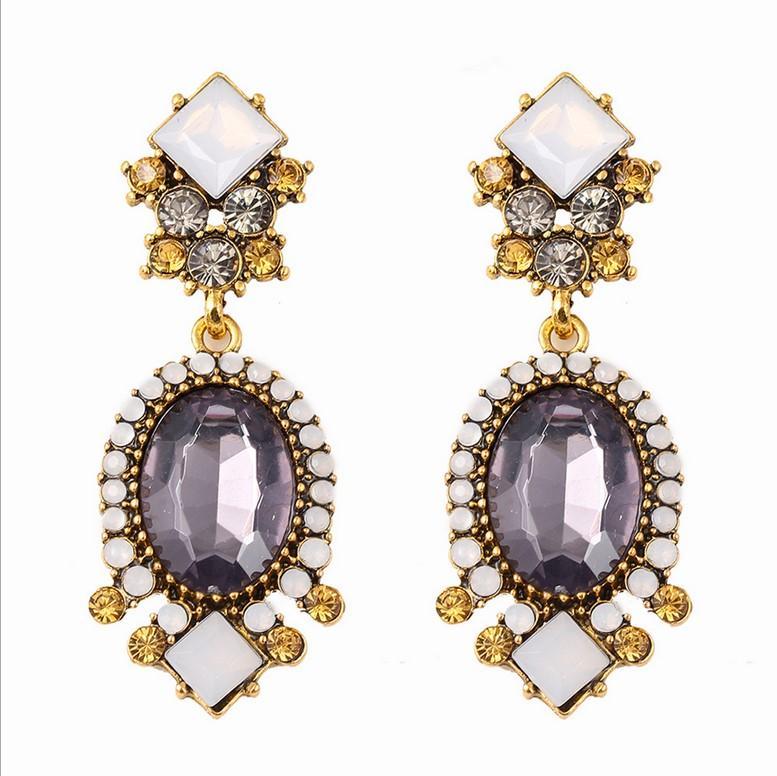 패션 크리스탈 드롭 귀걸이 쥬얼리 최신 유럽과 미국 패션 직접 판매 뜨거운 판매 고품질 여자 보석 12C52