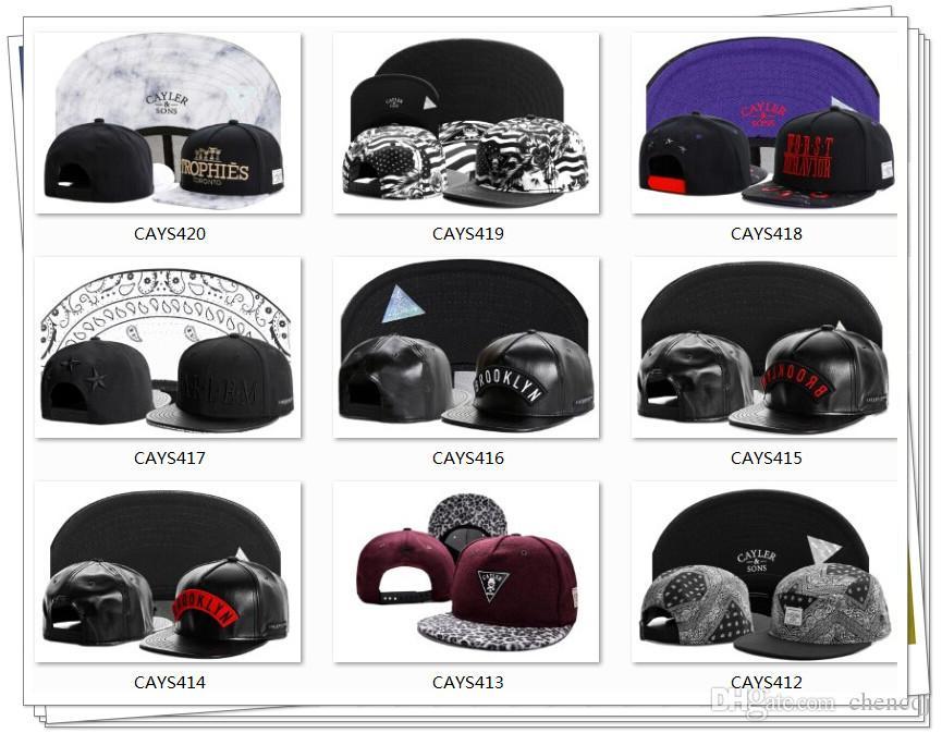 Hot Sale! Snapback Hat Cayler Sons Fashion Street Headwear Casual Caps Justerbar storlek kan skräddarsy den Släpp Shopping Mix Order