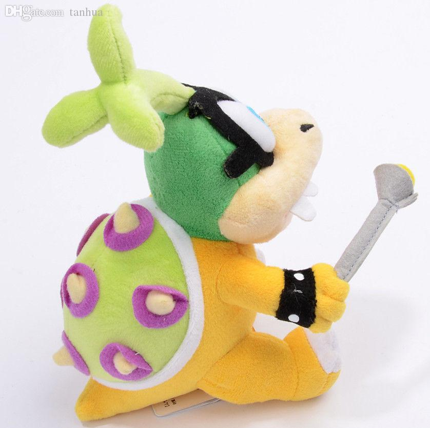 "Wholesale-Super Mario Bros Iggy Hop Koopa Bowser Koopalings 8"" Soft Plush Doll Toy"