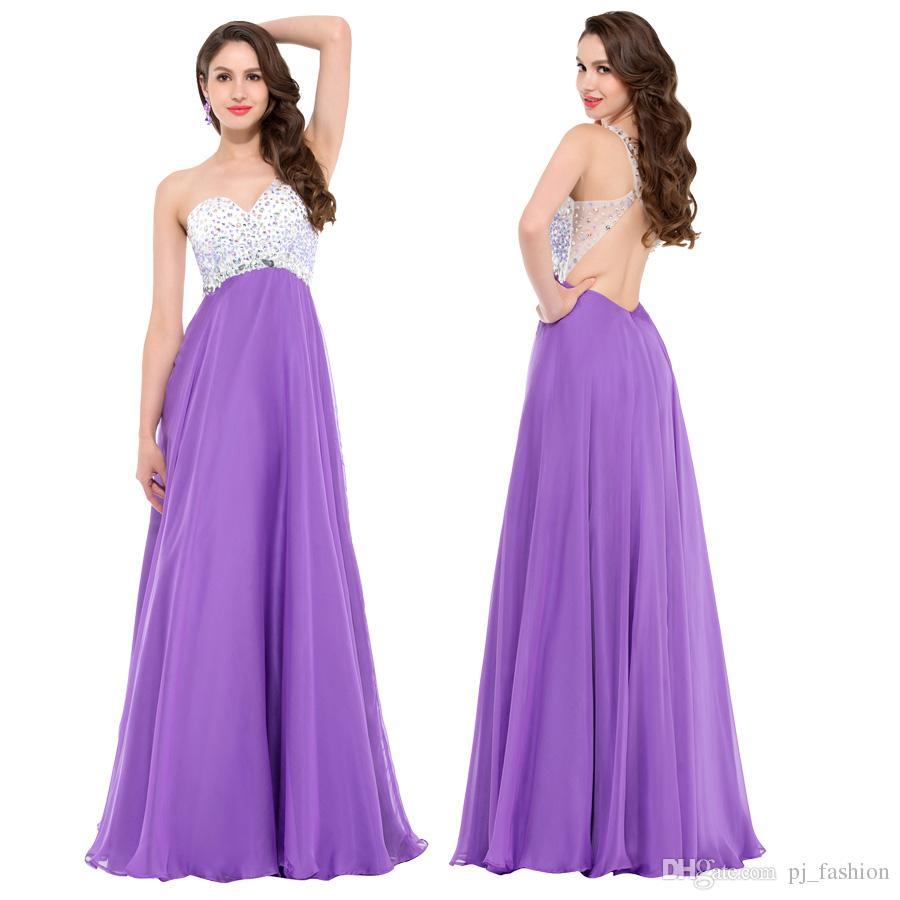 Elegant Women/'s Chiffon Bridesmaid One Shoulder Long Evening Party Formal Dress