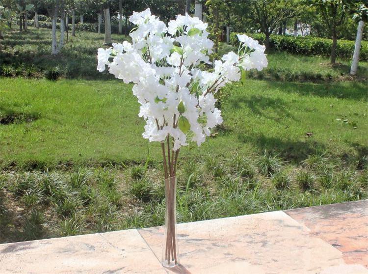 """NEW Silk Plum Blossom 77cm/30.31"""" Length 30Pcs Artificial Cherry Begonia Flower for Wedding Centerpiece Home Xmas Showcase Decor"""