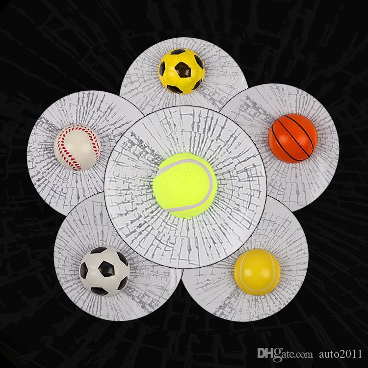 Adesivo palla 3D Adesivi tennis 3D di baseball Calcio Adesivi per auto finestrini per vetri 18,7 * 18,7 cm Decorazione esterna per auto personalizzata