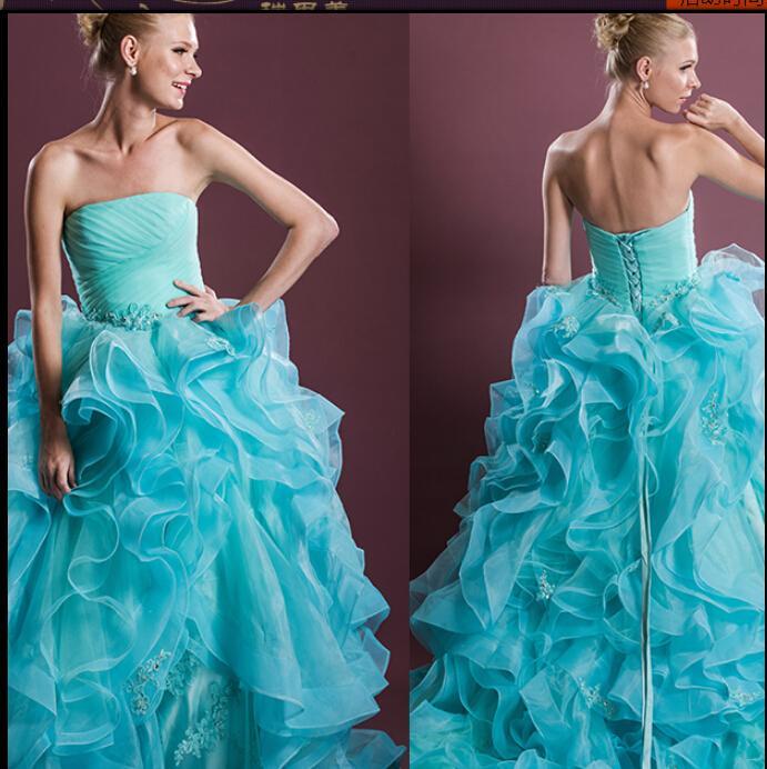 Discount 2015 Light Purple Wine Red Bride Ball Gown Wedding Dresses ...