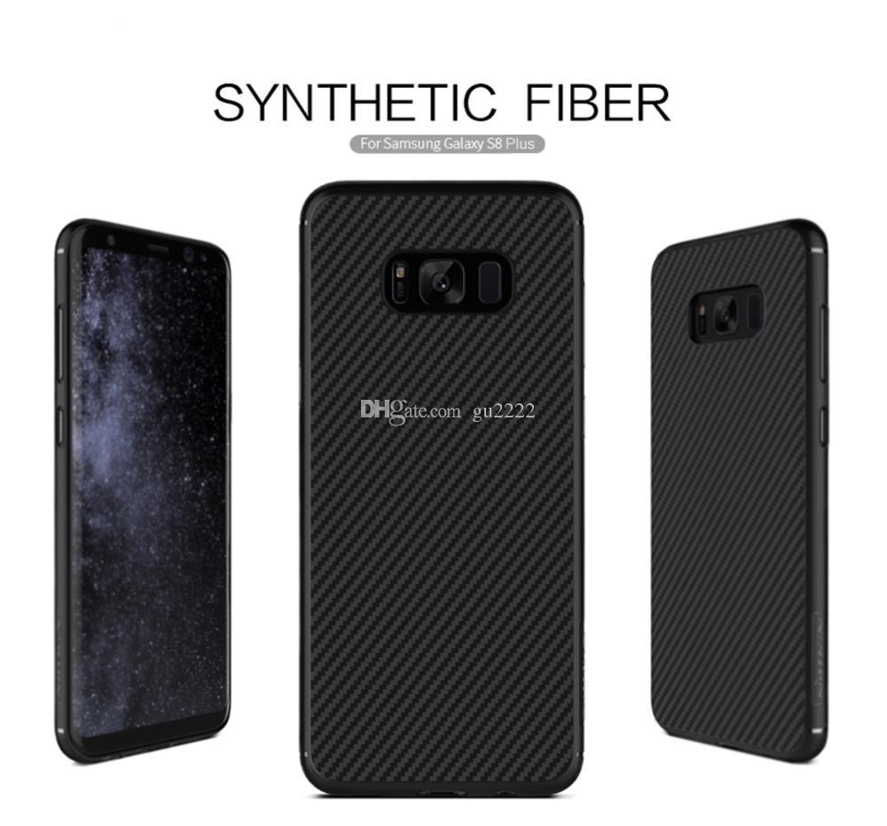 Para samsung galaxy s8 para galaxy s8 plus case casos de cobertura de telefone celular de fibra sintética nilkin para Samsung nota 8