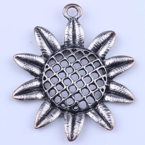 Горячие продажи серебро / медь ретро цветок кулон производство DIY подсолнечника ювелирные изделия кулон fit ожерелье или браслеты Шарм 25 шт. / лот 2171c