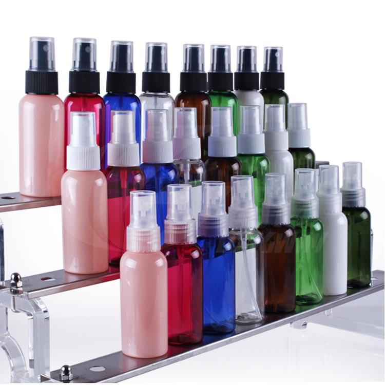 50ml Plastic spray bottle packing containers round shoulder bottle 8clolors can select free shipping