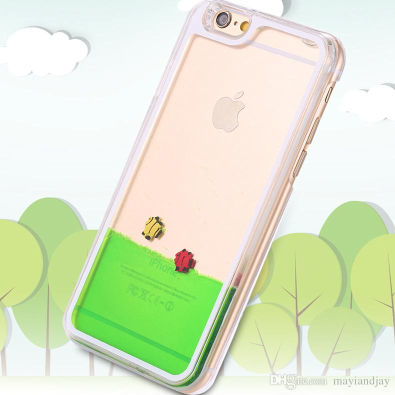 watch 9b0f9 39a6e Funny Liquid Fish Sea Water Moving Case For IPhone 6/6Plus Samsung Galaxy  S6 Note ful Transparent Ultra Thin Cellphone Cover Shell Protective Cell ...