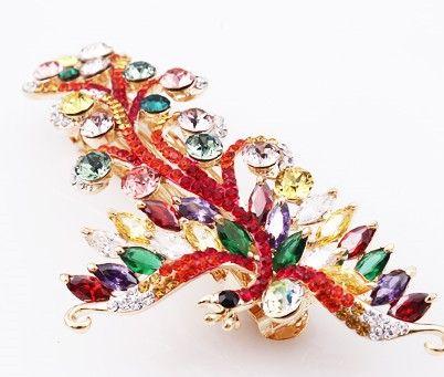 colorufl diamond lucky horquilla de la señora fénix (10.8 * 5 cm) (myyhmz)