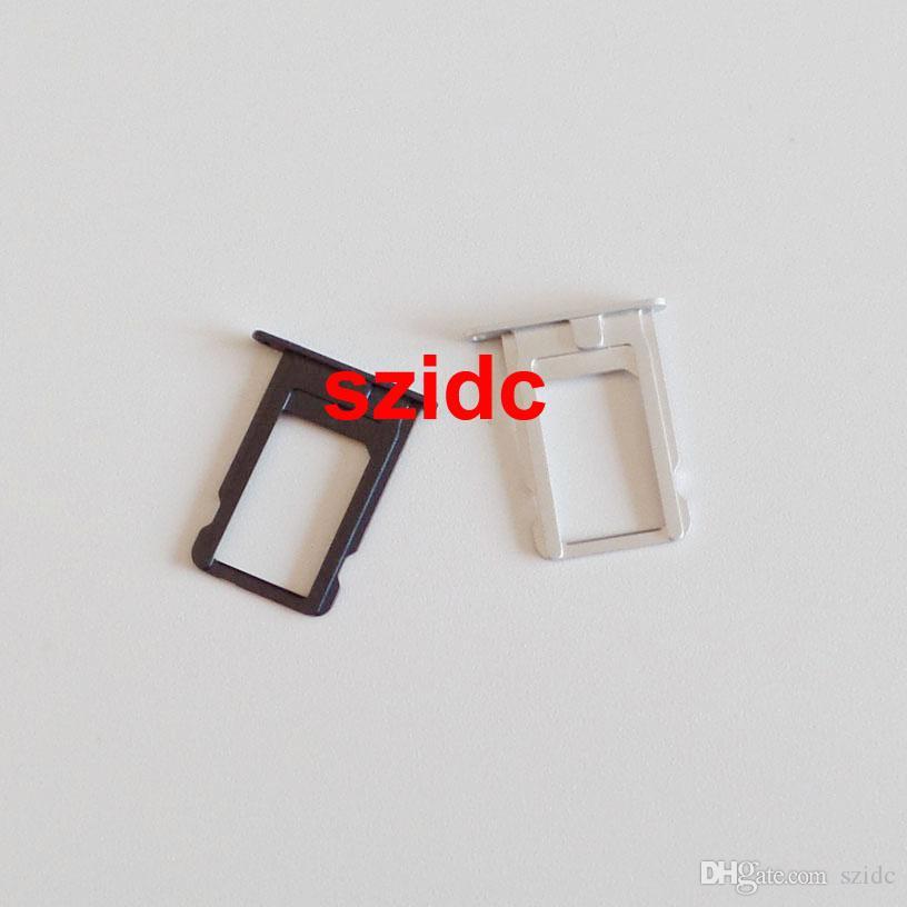 100pcs / lot Véritable Original Nouveau Sim Card Tray Slot Titulaire Pièces De Rechange Pour iPhone 5 Noir / Blanc En Gros
