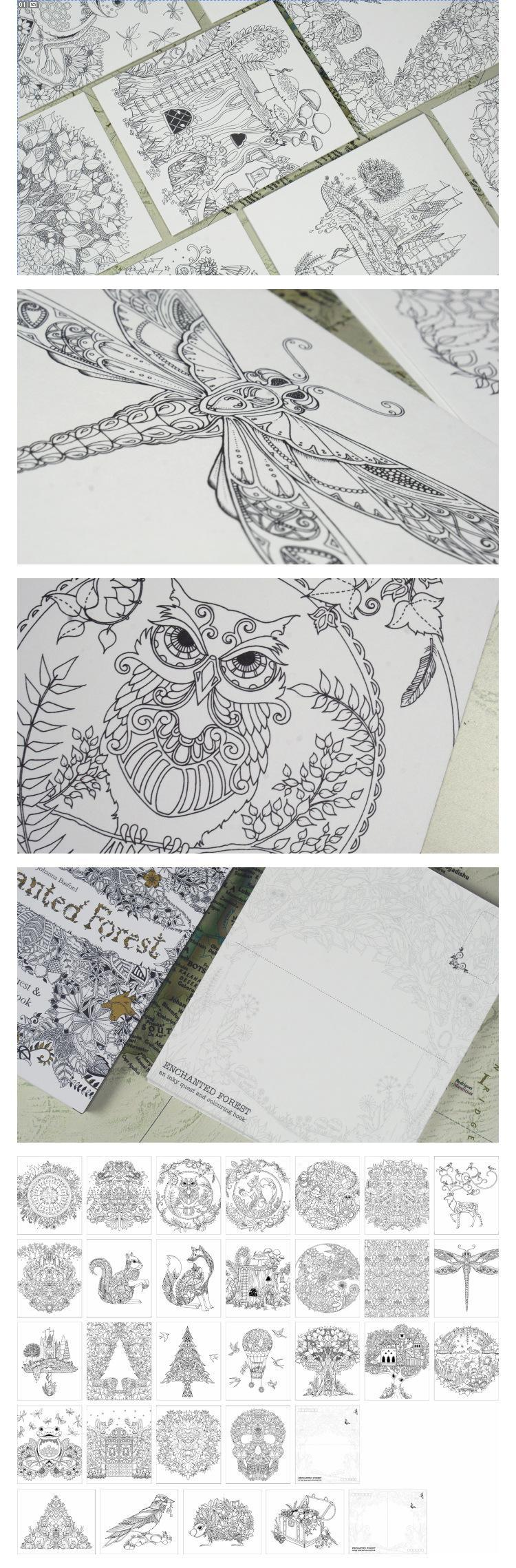 The enchanted forest coloring book uk - Enchanted Forest And Secret Garden An Inky Treasure Hunt Colouring Book Adult Kids Creative Therapy Coloring Drawing Books Adhesive Bind