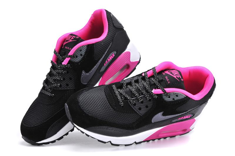 nike air max 90 womens black and pink