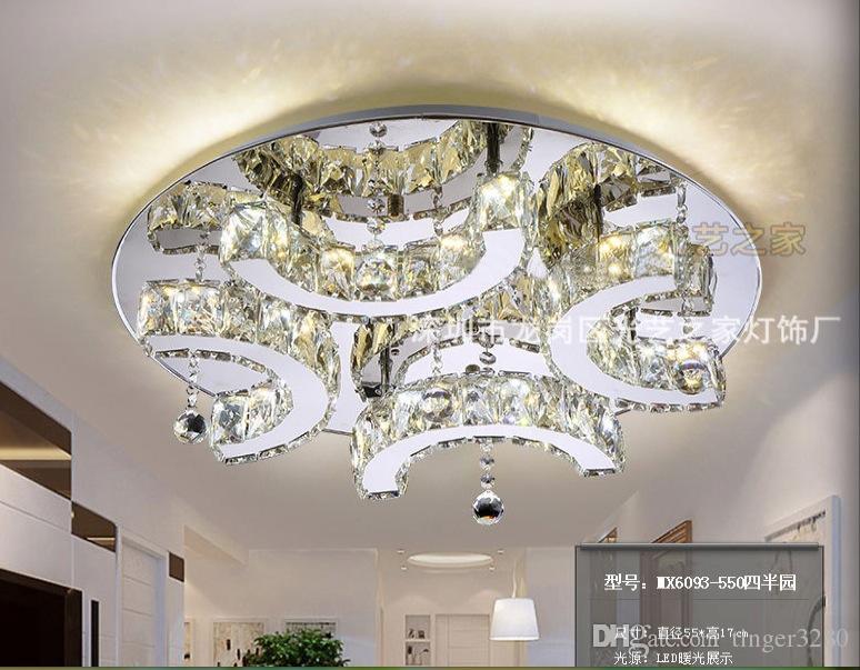 Moderne D550mm Clear Crystal LED Plafond Licht Home Woonkamer Slaapkamer LED Plafondlampen Gratis Verzending 100% Gegarandeerd afstandsbediening