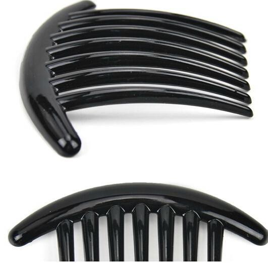Plastikowe Magiczne Rodzaje Grzebień Włosów Czarny Kolor Mankiet Bridal Akcesoria Biżuteria Kobiety Hair Clip Pędzel do włosów ABS 11x7.5cm 10 sztuk / partia HQS-G102639