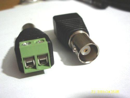 50 Adet Coax CCTV Koaksiyel Kamera BNC Dişi Jack Video adaptörü