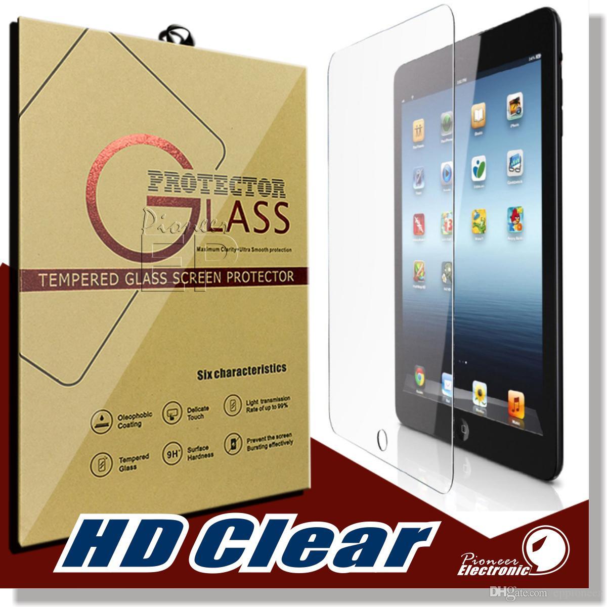 iPad Mini 2 3 4 공기 PRO 9.7 인치 화면 보호기 Shatterproof 방지 스크래치 HD Clear iPad Mini 2/3 iPad 공기 강화 유리