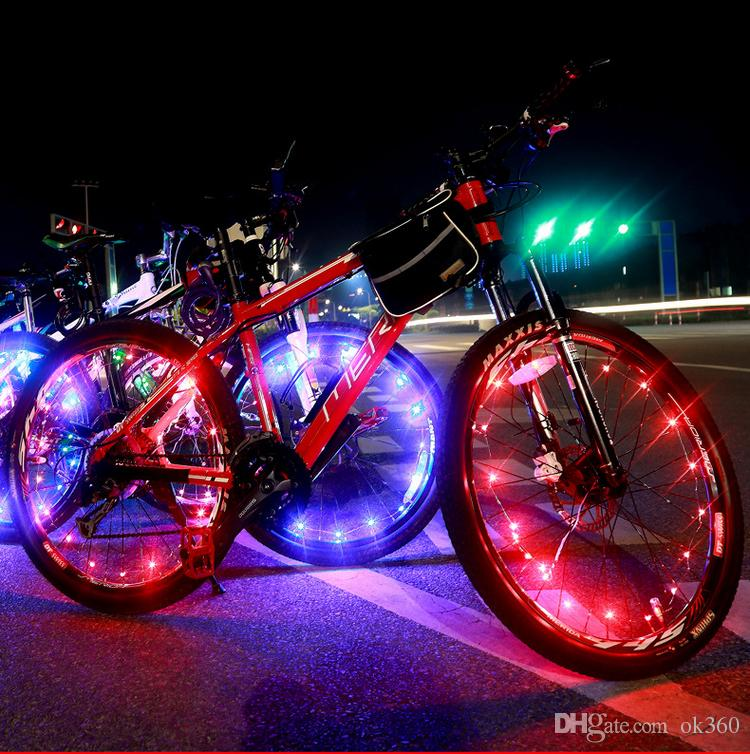 20LED Colorful Bicycle Flash LED Light Mountain Road Bike Cycling Wheel Spoke led lamps 2m String Wire Decor Lamp hot wheel lighting