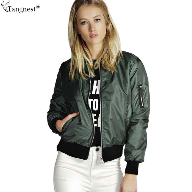 Venta al por mayor- Moda Tignest Casual Cool Pilot Pilot Chalets 2017 Mujer Boyfriend Style Fine Basic Abrigos Solid Slim Short Coat Plus Tamaño WWJ662