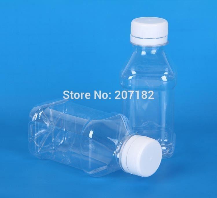 250pcs 100ML ساحة PET شفاف غطاء السلامة زجاجات الغذاء الصف السائل ، زجاجة بلاستيكية --- شفافية عالية