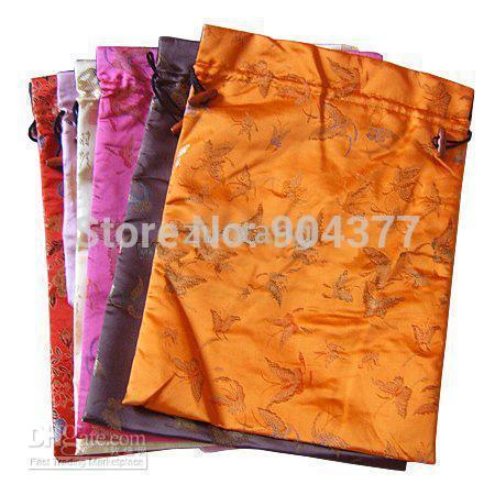 الرباط الحرير المطبوع حقائب سفر المرأة مع اصطف الحذاء القابل لإعادة الاستخدام يغطي 10 قطعة / الوحدة ميكس اللون شحن مجاني
