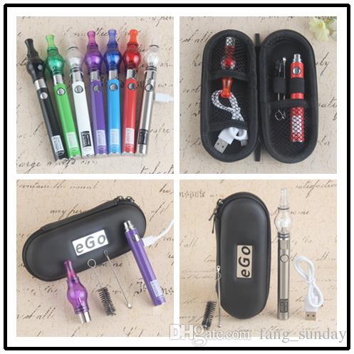 EGO T Wax Glass Globe Tank Dab Vape Pen Starter Kits Dome Bulb Atomizers eVod USB Pass Through Ecig Vaporizer Battery 650 900mAh