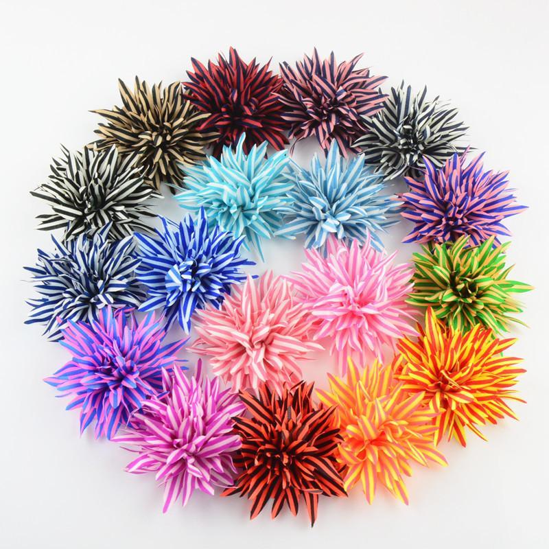 Kinder Haarband 20 Teile / los, Starburst Gestreifte Chiffon Blume für Haarschmuck und Diy Dekoration Mode Stirnbänder