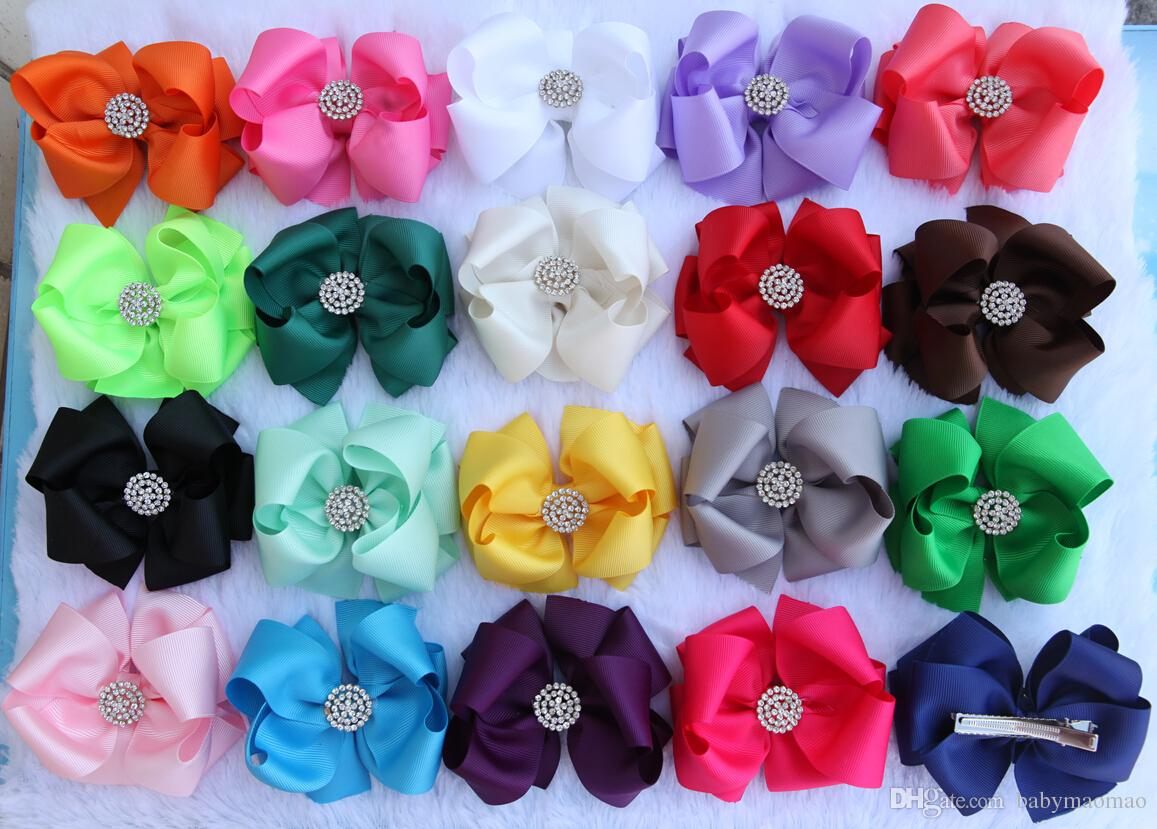 50pcs Assorted Fabric Bow Bowknot Flower for Handmade DIY Hair Accessory