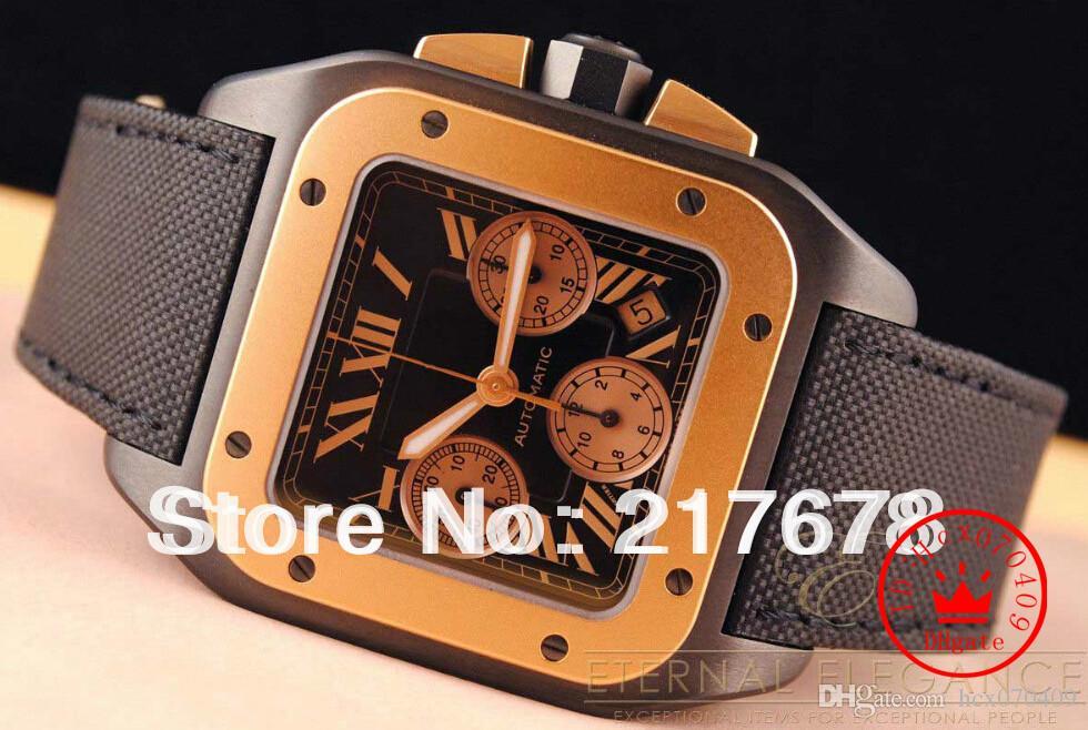 Montre de luxe de qualité supérieure saphir 100 W2020004 3104 montres automatiques de montres de cadran noir en acier inoxydable