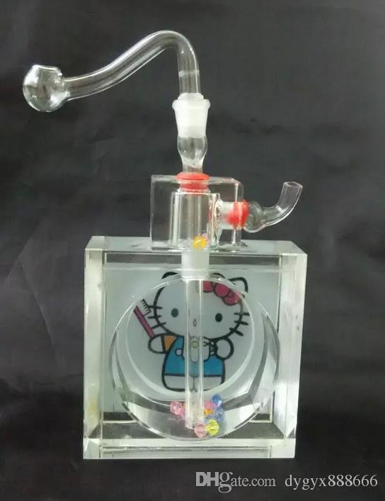 Wholesale free shipping--------2015 new k9 cartoon crystal glass Hookah 15 * 8.5cm, presented a full accessories