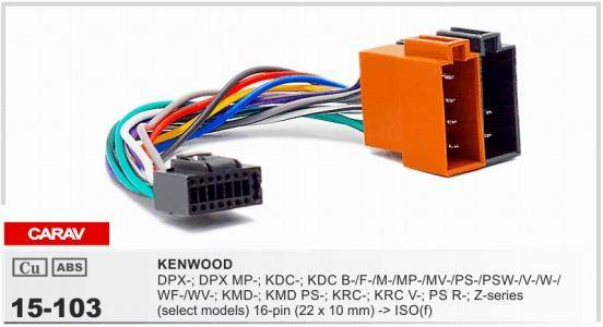 CARAV 15 103 Top Quality Car ISO Harness For Kenwood Stereo Radio Wire on