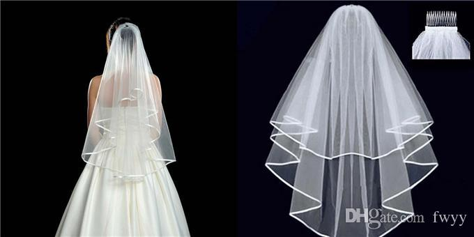 Bat Type Veil Womens Veil Bat Type Veil Womens Net Yarn and Double Tail Wedding Veil Womens White and Edge Veil Attached to Comb
