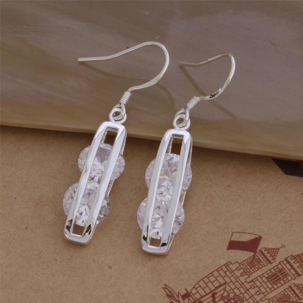 Мода (изготовление ювелирных изделий) 20 шт лот 2 Кристалл серьги стерлингового серебра 925 заводская цена мода обуви серьги