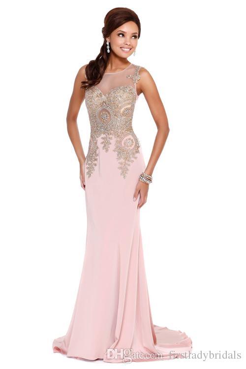 rico y magnífico oficial hermosa en color Compre Rosa Dubai Desfile De Vestidos Estilo Sirena Luz De La Tarde Sheer  Vestidos Del Partido De Largo La Longitud Del Piso 2015 Ocasiones  Especiales ...