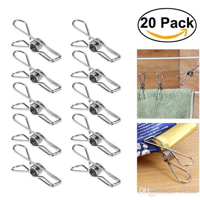 20 pcs Plastic Clothes Pins Laundry Clips Socks Towel Hangers Spring Peg ClampES