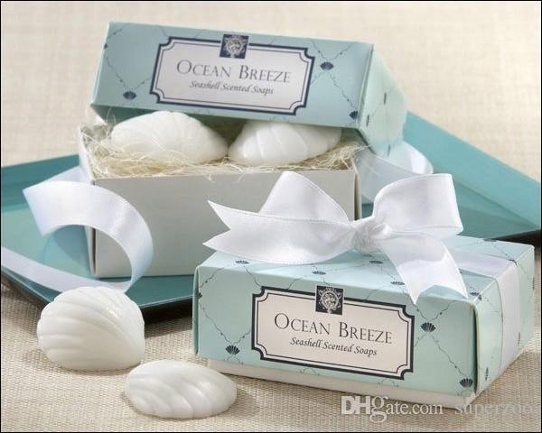 20 PCS Faveurs de mariage Party cadeaux bébé douche Sea Shell savon pour les invités Souvenirs