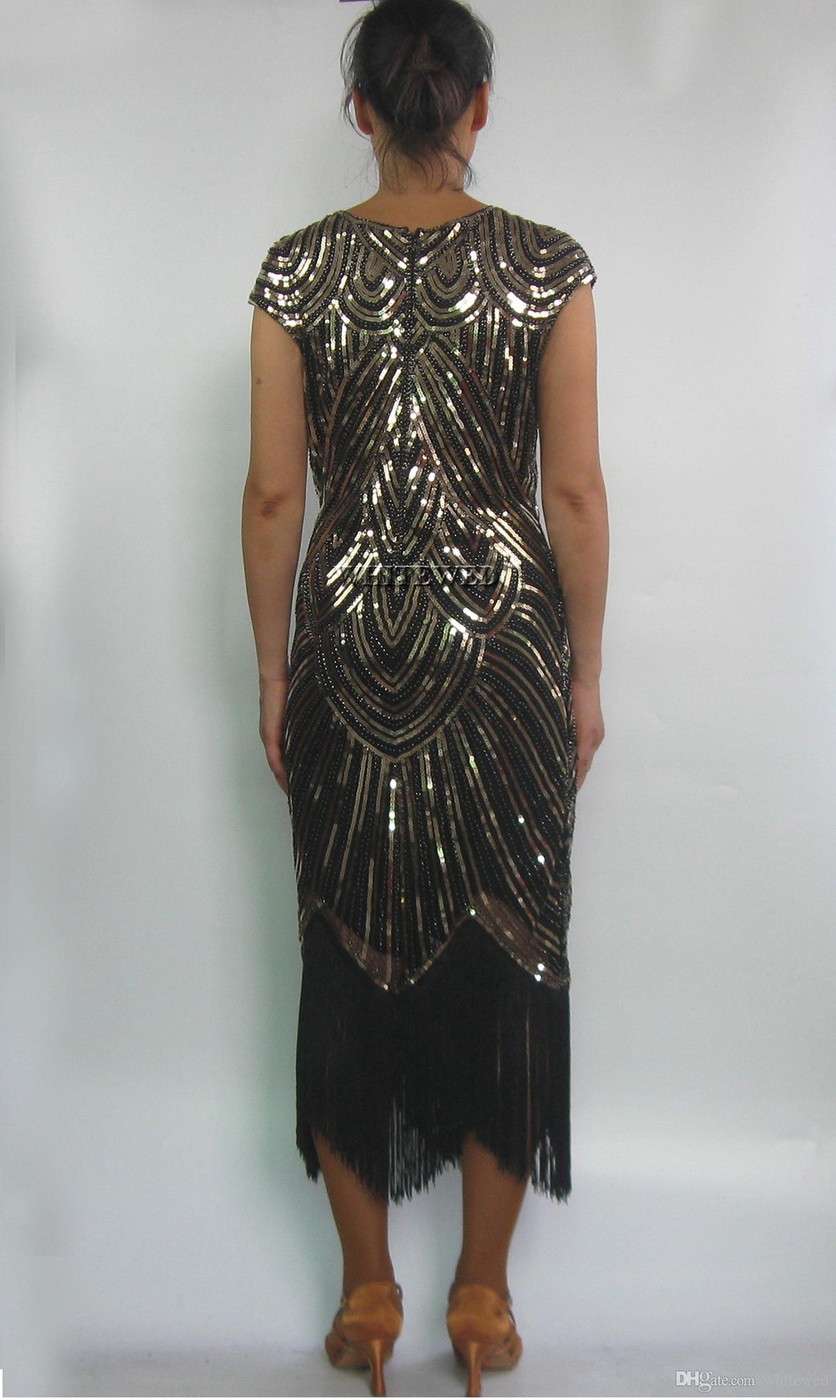 Großhandel Retro Perlen 1920 Art Deco Cocktail Flapper Kleider ...