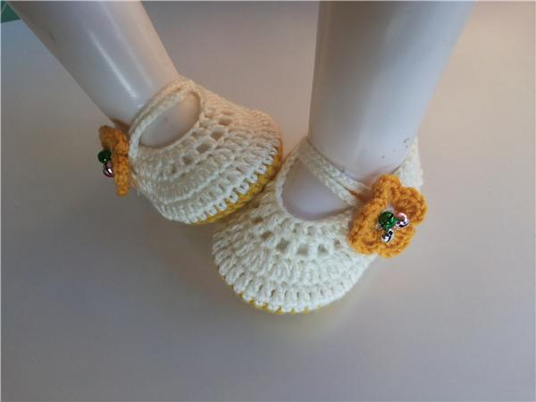 New 2016 fashion baby shoes boy handmade Toddler Girls Flower Bell Shoes High Quality Infant Baby Knitted Crochet Soft Shoe 0-12M customize
