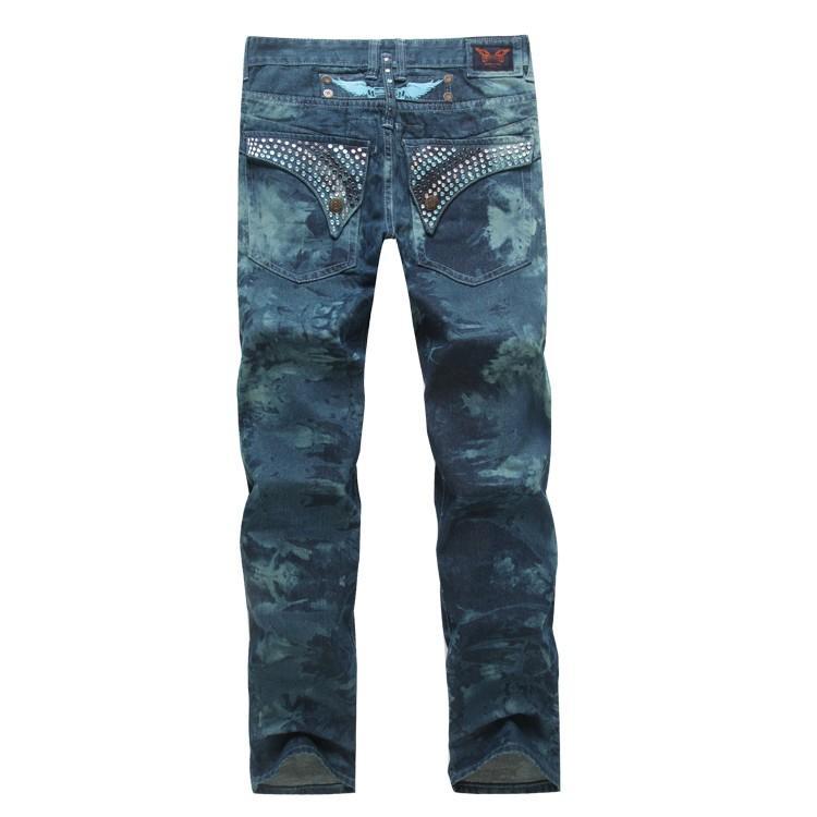 Designer de luxe Robin Jeans pour hommes avec ailes Drapeau américain JEANS Droite Denim Cowboy Célèbre Marque Slim Designer Hommes Pantalon Taille 30-42