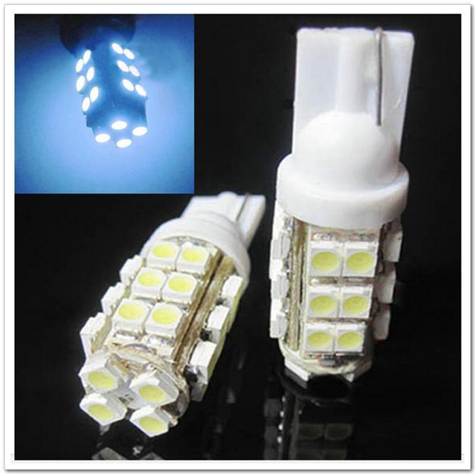 100pcs T10 1210 28 SMD super luminoso 28 LED luci interne Car Side Light Lampadina