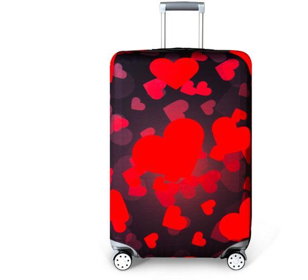 Housse de Protection pour Bagages Luggage Cover et /Étiquette de Housse Valise Elastique Couverture Protection de Valise Housse de Bagage Luggage Cover 22-24 Valise Voyage, M