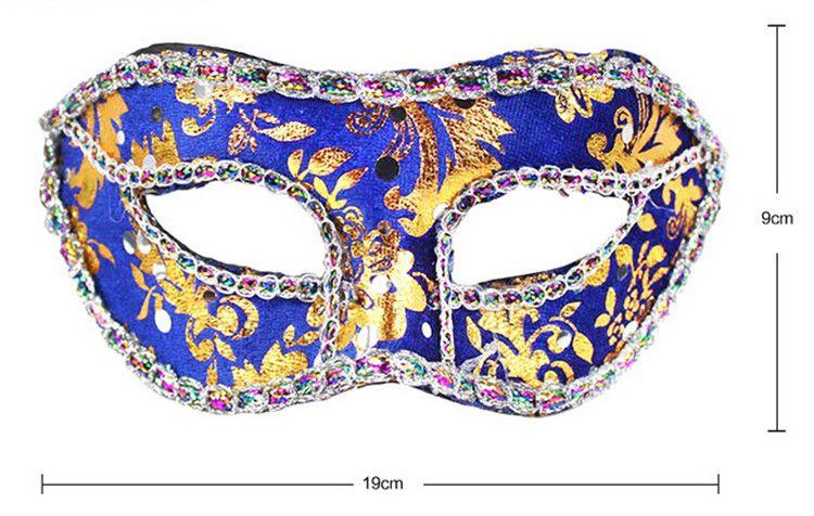 DHL Ücretsiz Kargo Yarım Yüz Maskesi Cadılar Bayramı Masquerade Maske Erkek, Venedik, İtalya, Flathead Dantel Parlak Bez Maskeleri, Parti Maskeleri