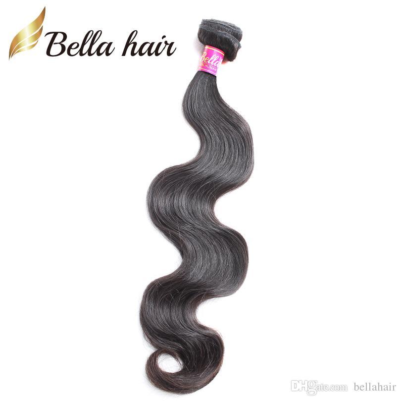 بيلا الشعر حزم الجسم موجة البرازيلي الماليزية بيرو الهندي الشعر ملحقات غير المجهزة العذراء الإنسان الشعر ينسج 1 قطعة قطرة الشحن