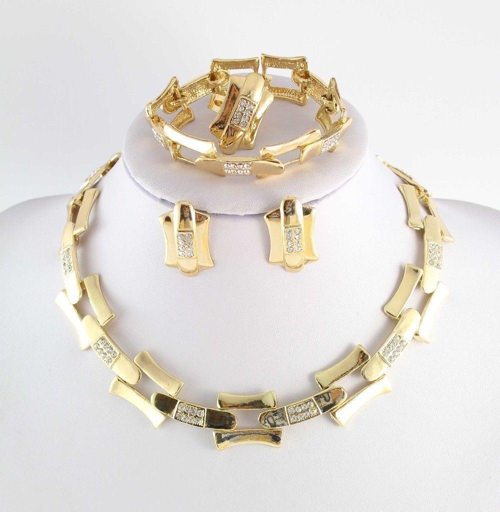 دبي الأفريقي 18 كيلو الذهب مطلي غامضة الساحرة قلادة سوار القرط أزياء رومانسية فاز المرأة الزفاف مجموعات المجوهرات الزفاف
