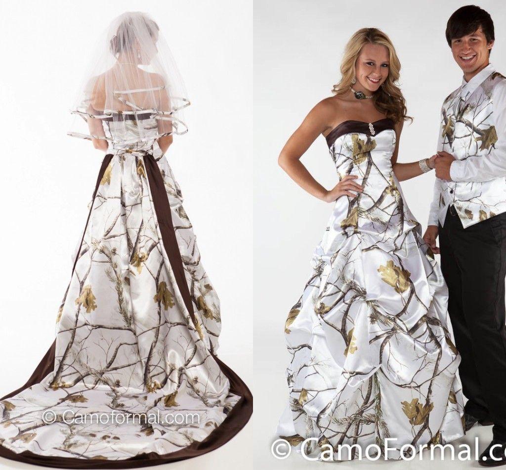 Camo Wedding Dresses/Winterwhite Sweetheart Ball Gowns Bridal ...