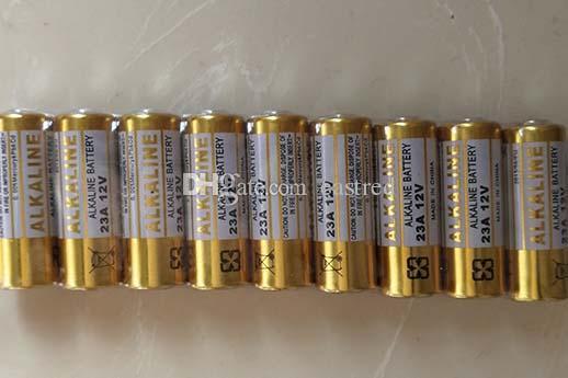 2000pcs / Lot Mercurio libre 0% Hg Pb 12V 23A Alkaline batería A23 MN21 L1028 Pila alcalina (por timbre de la puerta, mando a distancia)