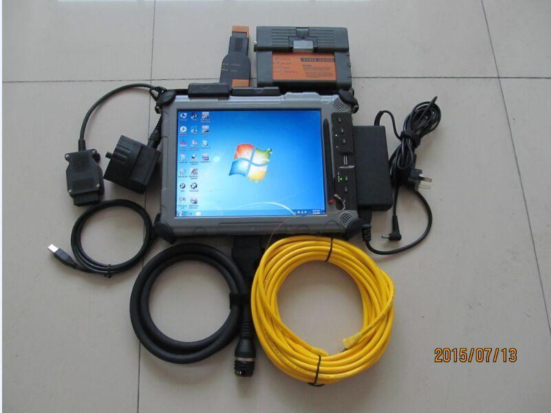 Strumenti professionali Scanner diagnostici per BMW ICOM A2 con 480 GB SSD Rugged Tablet PC Xplore IX104 C5 I7