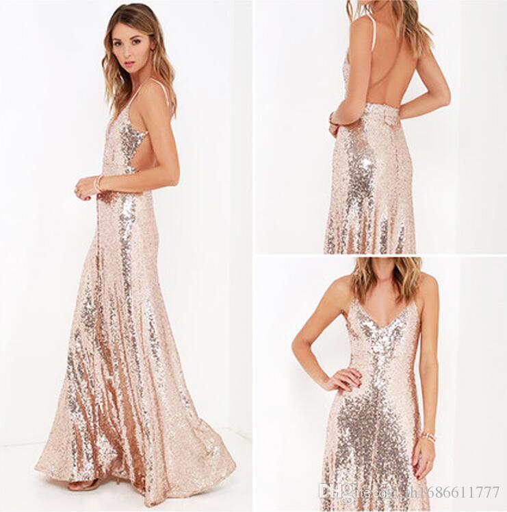 Sexy 2017 Mode Frauen Sommer Boho Kleid Sleeveless Abendgesellschaft Maxi Lange Kleider Pailletten Kleid Vestidos Longos De Verao