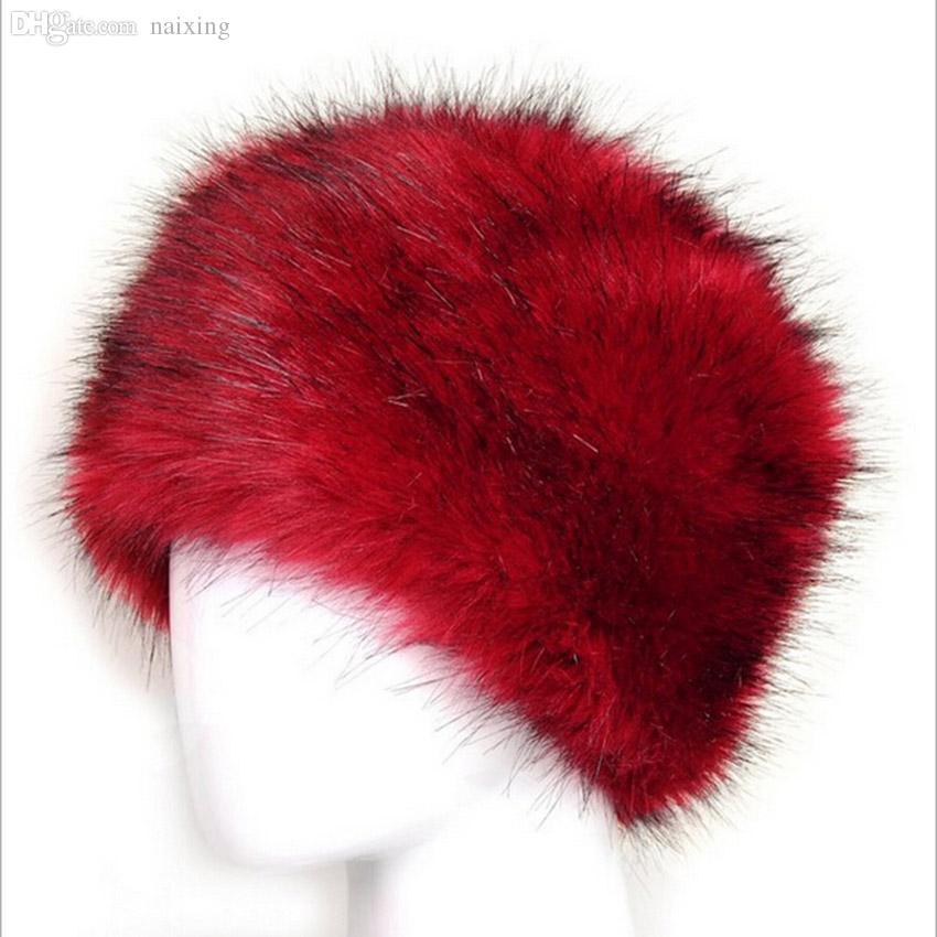 Groothandel-hot selling dames winter warme hoed damesmode bont hoed imitatie vossen bont oorbeschermers grote hoed cap dome sneeuw cap